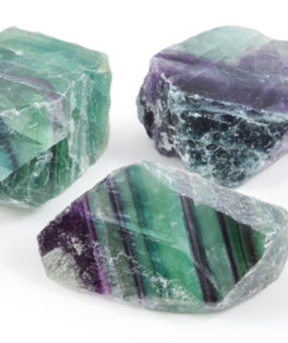 One Side Polished Fluorite Pieces