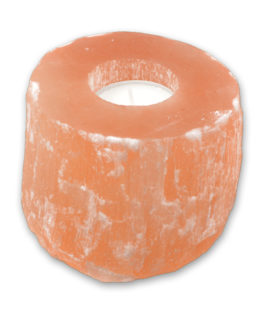 CH41 – Small Round Orange Selenite Candle Holder