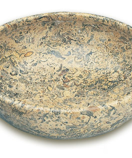 ON073 7 inch Fossilstone Bowl