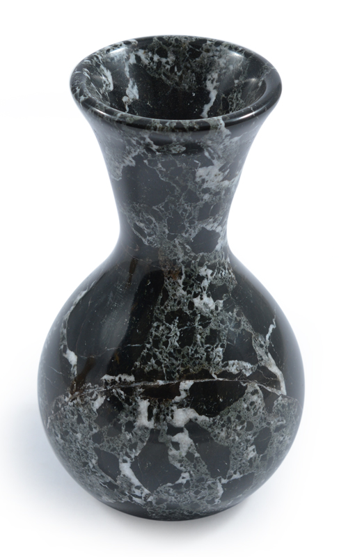 5 Black Marble Carved Bud Vase Dorset Science Tech Centre Atom Club