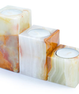 ON422 – 3 Piece Onyx Candle Holders